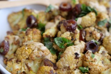 Roasted Cauliflower With Curry Tahini