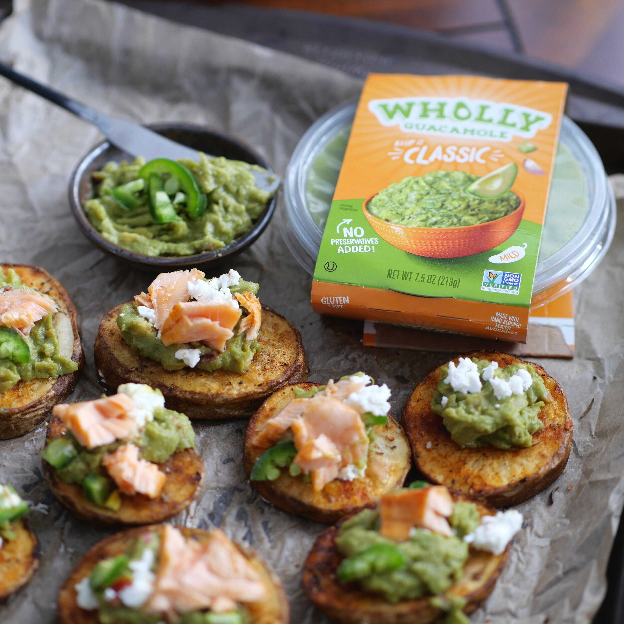 The goat cheese and salmon give these Loaded Potato Bites an adult flavor!