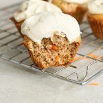 Carrot Cake Muffins With Vanilla Cashew Cream Frosting