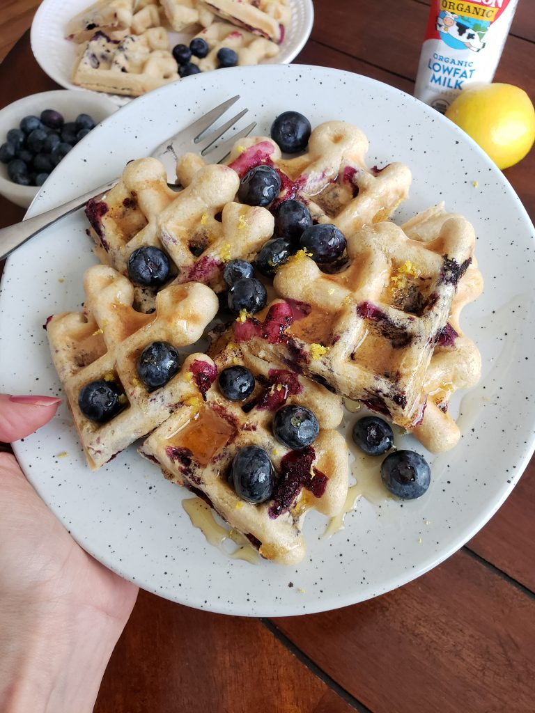 Blueberry Lemon Waffles