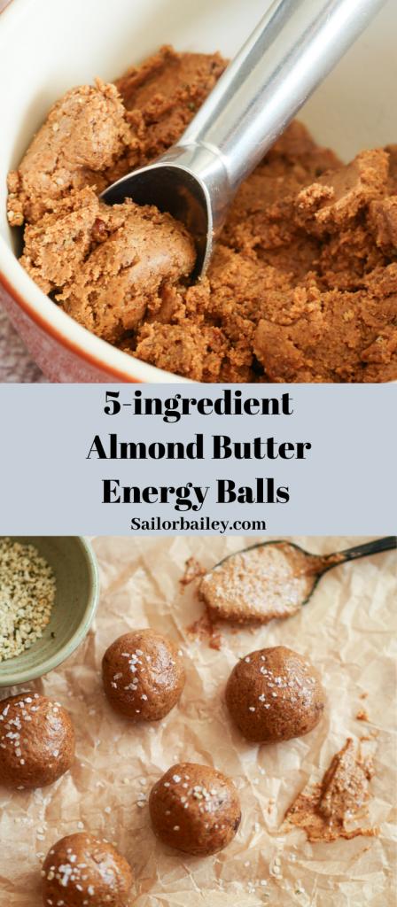 5-Ingredient Almond Butter Energy Balls