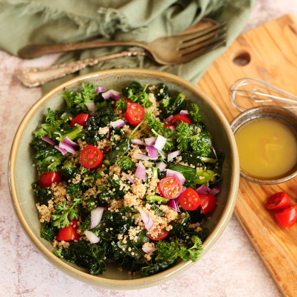 Vegan Salad With Sweet Onion Vinaigrette Dressing