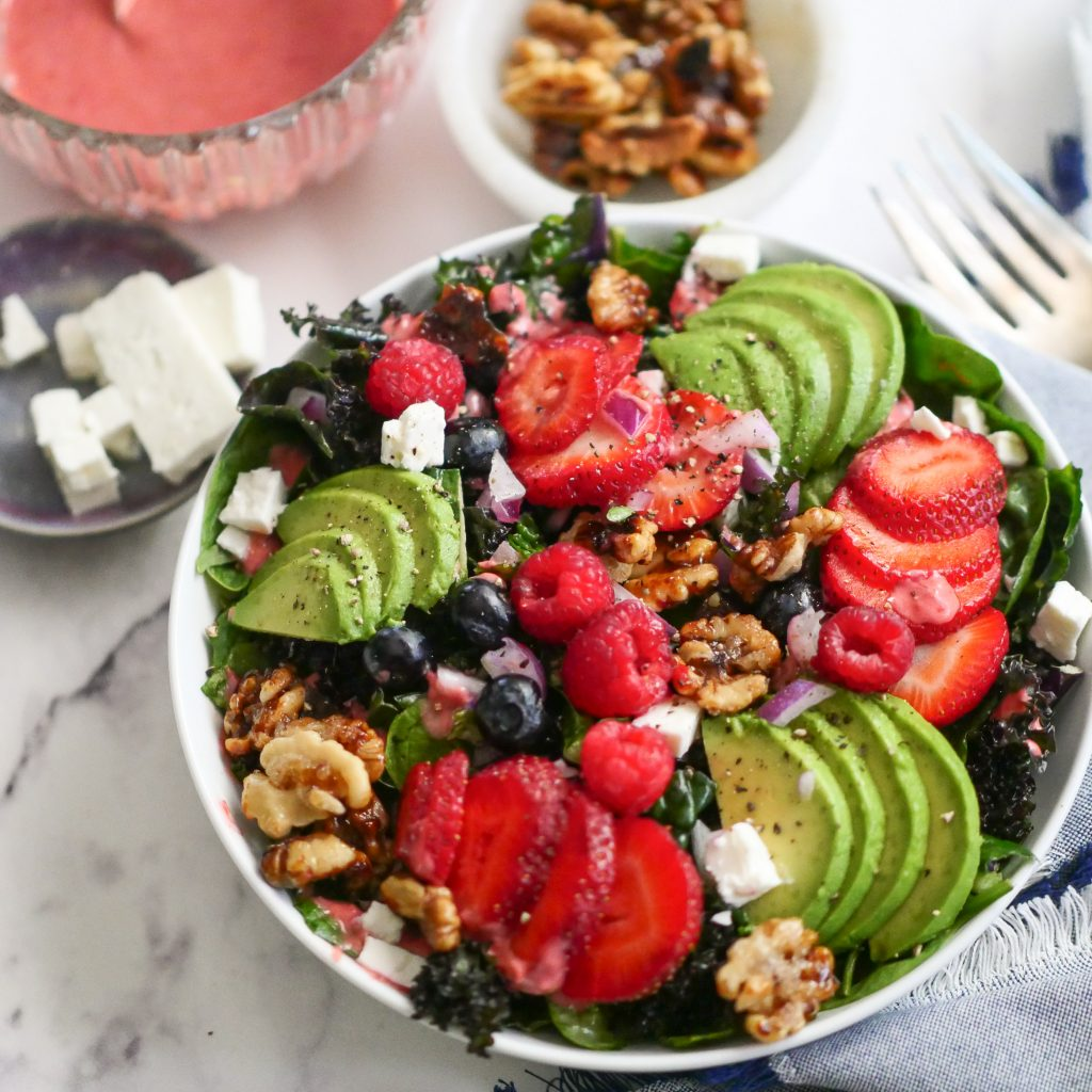 Berry Salad With Raspberry Vinaigrette
